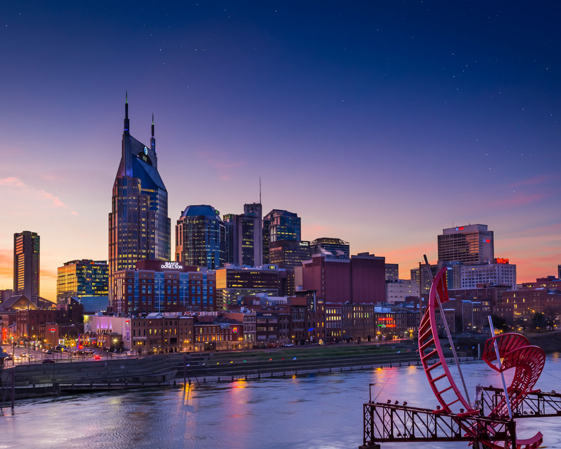 View of Nashville Skyline from The Bridge Building
